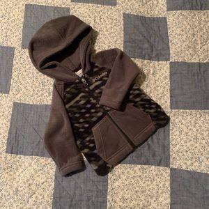 Baby Columbia zip up hoodie